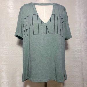 PINK Victoria's Secret V-Neck Choker Tee